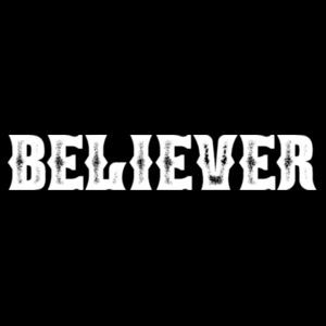 BELIEVER - PREMIUM WOMEN'S CROPPED PULLOVER HOODIE - BLACK Design