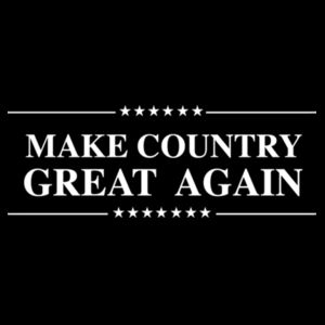 MAKE COUNTRY GREAT AGAIN - PREMIUM WOMEN'S CROPPED PULLOVER HOODIE - BLACK Design