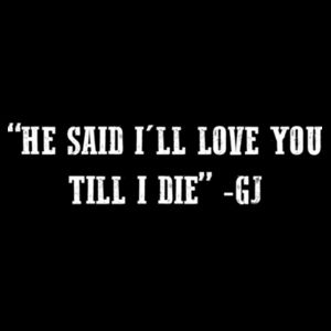 LOVE YOU TILL I DIE - PREMIUM MEN'S S/S TEE - BLACK Design